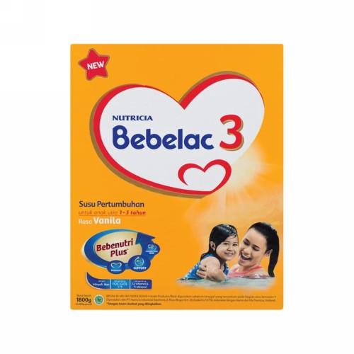 NUTRICIA BEBELAC 3 USIA 1-3 TAHUN RASA VANILA 1800 GRAM BOX