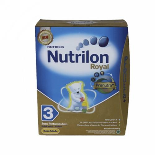 NUTRILON 3 SUSU PERTUMBUHAN ANAK USIA 1-3 TAHUN RASA MADU 400 GRAM BOX