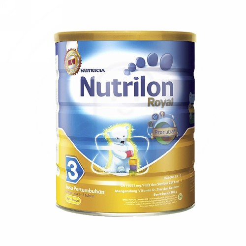 NUTRILON 3 SUSU PERTUMBUHAN ANAK USIA 1-3 TAHUN RASA MADU 800 GRAM KALENG