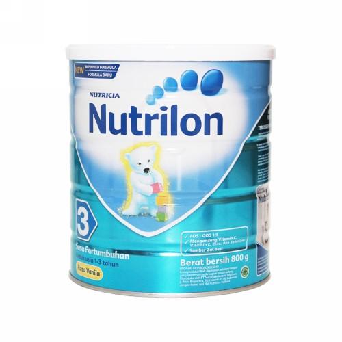 NUTRILON 3 SUSU PERTUMBUHAN ANAK USIA 1-3 TAHUN RASA VANILLA 800 GRAM KALENG