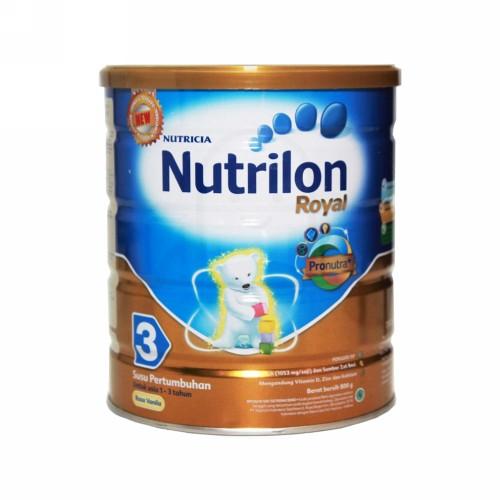 NUTRILON ROYAL 3 SUSU PERTUMBUHAN ANAK USIA 1-3 TAHUN RASA VANILLA 800 GRAM KALENG