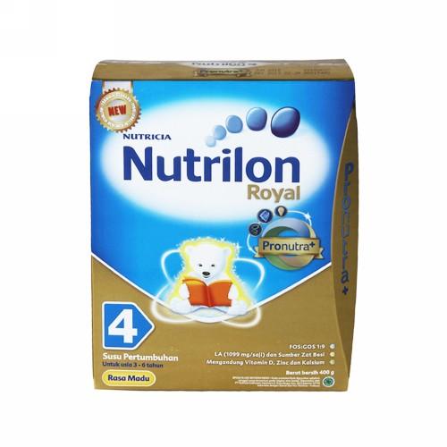 NUTRILON ROYAL 4 SUSU BUBUK ANAK USIA 3-6 TAHUN RASA MADU 400 GRAM BOX