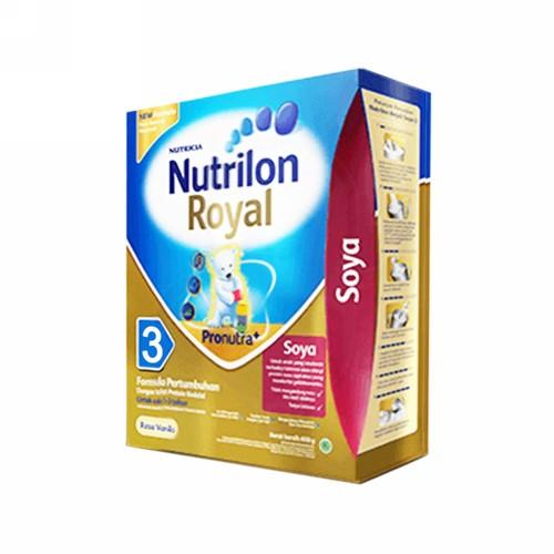 NUTRILON ROYAL SOYA 3 SUSU FORMULA PERTUMBUHAN ANAK USIA 1-3 TAHUN 400 GRAM BOX