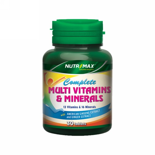 NUTRIMAX COMPLETE MULTIVITAMINS & MINERALS 30 TABLET