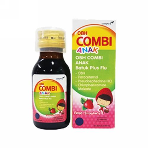 ... Obat Flu, Demam, Sakit Kepala, Hidung Tersumbat, Bersin - Bersin. Source · OBH COMBI ANAK BATUK PLUS FLU RASA STRAWBERRY 60 ML .