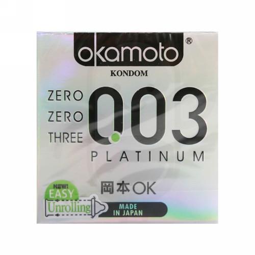 OKAMOTO PLATINUM 003 BOX 3 KONDOM