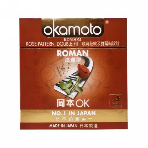OKAMOTO ROMAN KONDOM BOX 3 PCS