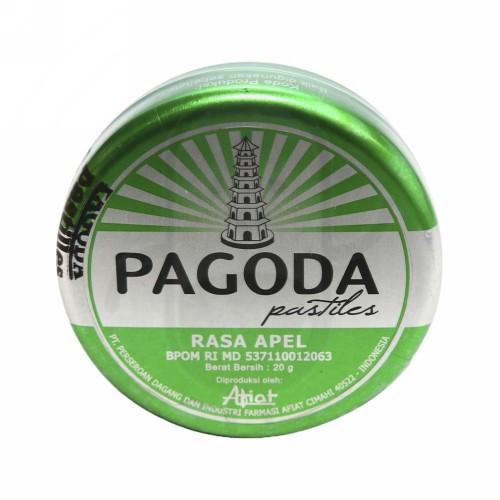 PAGODA PASTILES RASA APEL 20 GRAM KALENG