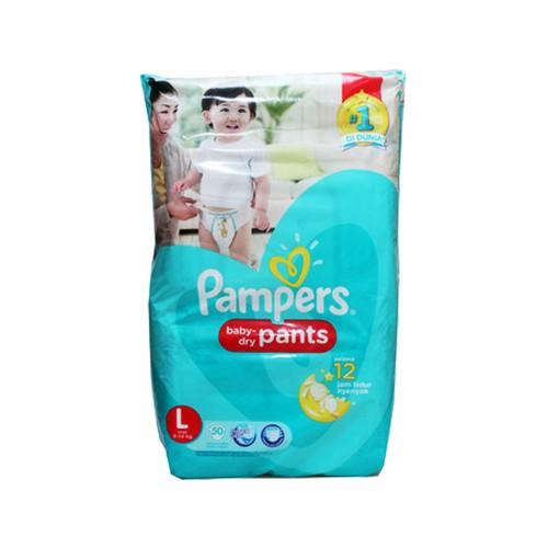 PAMPERS BABY DRY PANTS UKURAN L BOX 50 PCS