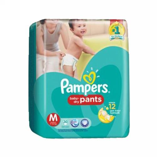 PAMPERS BABY DRY PANTS UKURAN M BOX 30 PCS