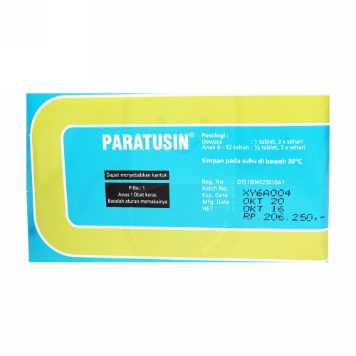 PARATUSIN STRIP 10 TABLET