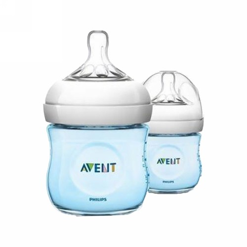 PHILIPS AVENT NATURAL BOTOL SUSU BAYI WARNA BIRU 125 ML BOX 2 PCS