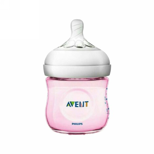 PHILIPS AVENT NATURAL BOTOL SUSU BAYI WARNA PINK 125 ML BOX 2 PCS