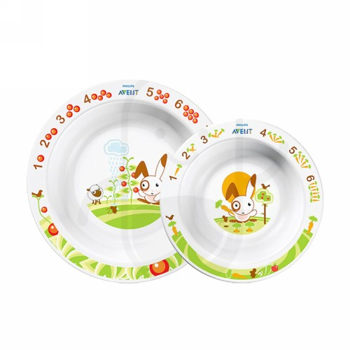 PHILIPS AVENT TODDLER BOWL SET PIRING BAYI USIA 6 BULAN KEATAS BOX 2 PCS