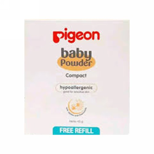 PIGEON COMPACT BABY POWDER FREE REFILL