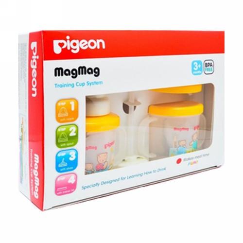 PIGEON MAGMAG TRAINING CUP SYSTEM BOTOL SUSU BAYI USIA 3 BULAN KEATAS