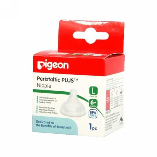 PIGEON PERISTALTIC PLUS NIPPLE L 1 PCS