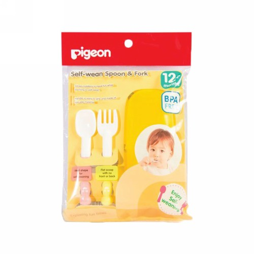PIGEON SPOON & FORK SELF WEANING