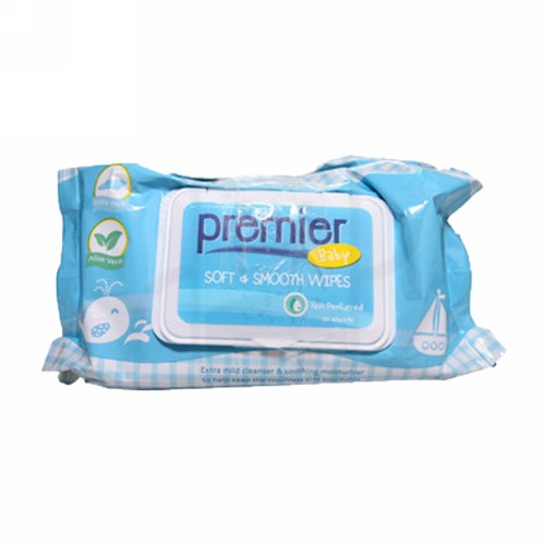 PREMIER WIPES SOFT & SMOOTH NON PERFUME 3 @50 LEMBAR