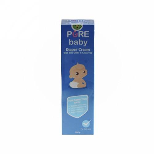 PURE BABY DIAPER CREAM FOR SENSITIVE SKIN 200 GRAM TUBE