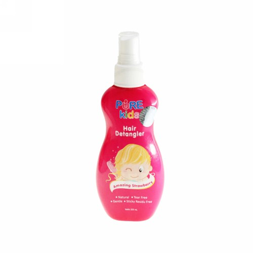 PURE KIDS HAIR DETANGLER AMAZING STRAWBERRY 200 ML BOTOL