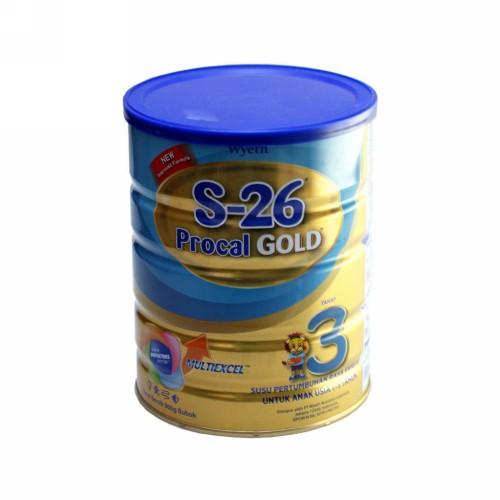 S-26 PROCAL GOLD 3 SUSU PERTUMBUHAN USIA 1-3 TAHUN RASA VANILLA 900 GRAM KALENG