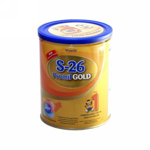 S-26 PROMIL GOLD 1 SUSU FORMULA BAYI USIA 0-6 BULAN 400 GRAM KALENG