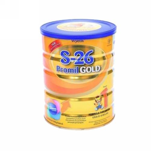S-26 PROMIL GOLD 1 SUSU FORMULA BAYI USIA 0-6 BULAN 900 GRAM KALENG