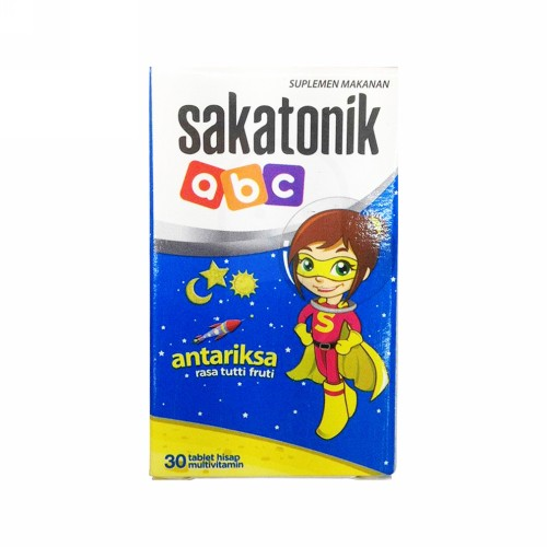 SAKATONIK ABC RASA TUTTI FRUTI TUBE 30 TABLET