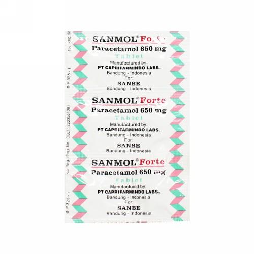 SANMOL FORTE 650 MG BOX 100 TABLET