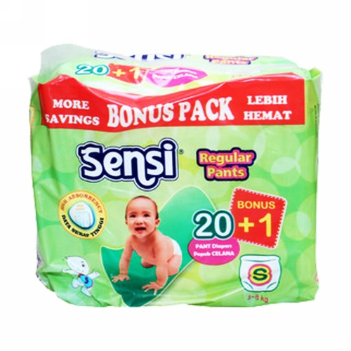 SENSI REGULAR POPOK CELANA UKURAN S BOX 20 PCS