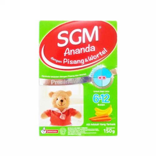 SGM ANANDA PISANG DAN WORTEL FORMULA BAYI USIA 6-12 BULAN 150 GRAM BOX