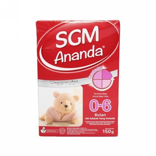 SGM ANANDA PRESINUTRI FORMULA BAYI USIA 0-6 BULAN 150 GRAM BOX
