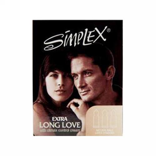 SIMPLEX KONDOM EXTRA LONG LOVE BOX 3 PCS