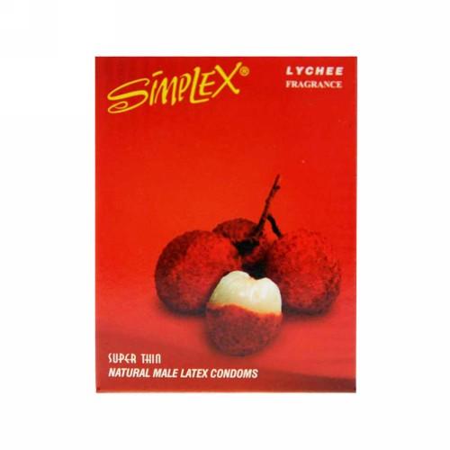 SIMPLEX KONDOM FRAGRANCE LYCHEE BOX 3 PCS