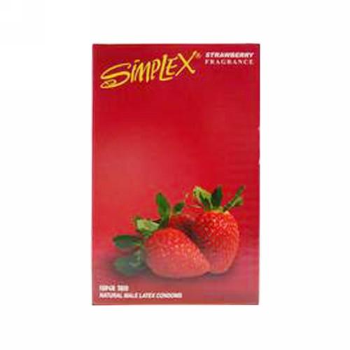 SIMPLEX KONDOM FRAGRANCE STRAWBERRY BOX 12 PCS