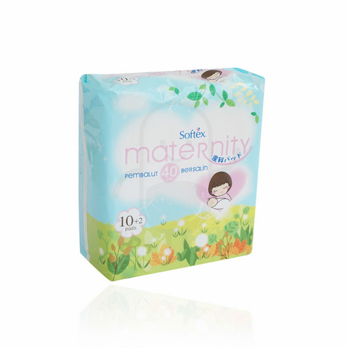 SOFTEX MATERNITY 40 CM BOX 10 + 2 PCS