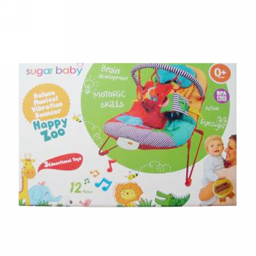 SUGAR BABY HAPPY ZOO MUSICAL VIBRATION BOUNCER