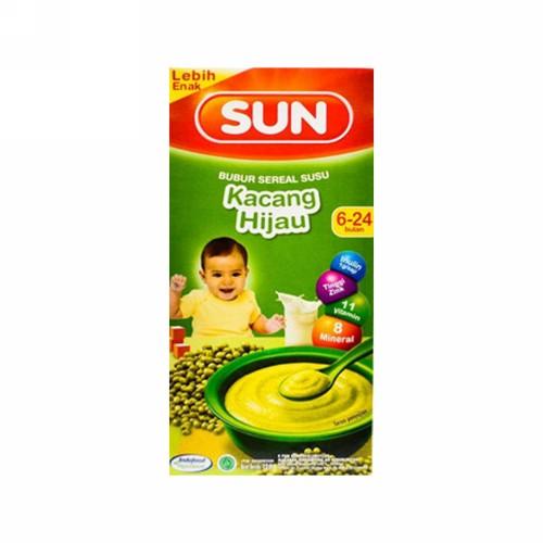 SUN BUBUR SEREAL SUSU RASA KACANG HIJAU 6-24 BULAN 120 GRAM