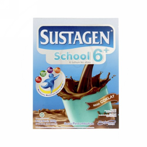 SUSTAGEN SCHOOL SUSU BUBUK ANAK USIA 6-12 TAHUN RASA COKLAT 350 GRAM BOX