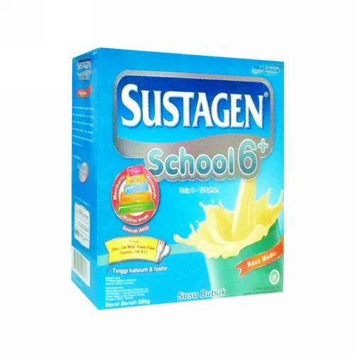 SUSTAGEN SCHOOL SUSU BUBUK ANAK USIA 6-12 TAHUN RASA MADU 350 GRAM BOX