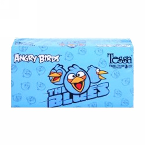 TESSA ANGRY BIRDS FACIAL TISSUE BOX 200 PCS