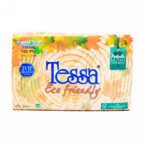 TESSA ECO FRIENDLY 100 PLY TISSUE BOX 50 PCS