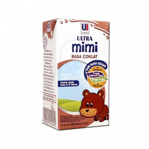 ULTRA MIMI SUSU UHT RASA COKLAT 125 ML TETRAPAK
