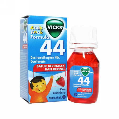 VICKS FORMULA 44 ANAK RASA STRAWBERRY SIRUP 27 ML