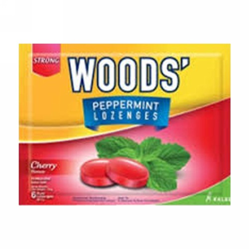 WOODS LOZENGES CHERRY SACHET 6 BUTIR