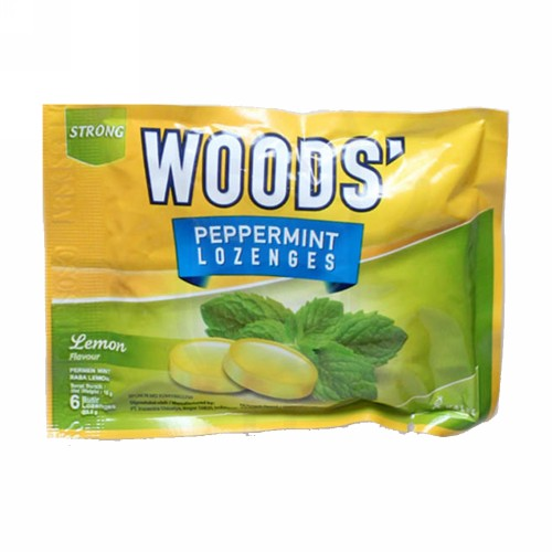 WOODS LOZENGES LEMON SACHET 6 BUTIR