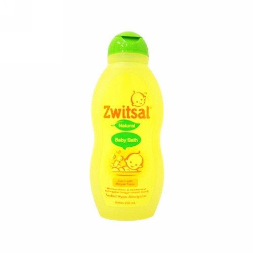 ZWITSAL BABY BATH NATURAL WITH MINYAK TELON 200 ML BOTOL
