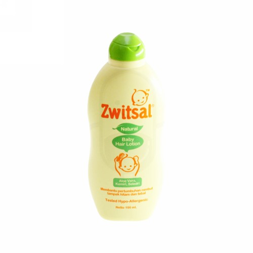 ZWITSAL BABY HAIR LOTION ALOE VERA, KEMIRI, SELEDRI NATURAL 200 ML BOTOL