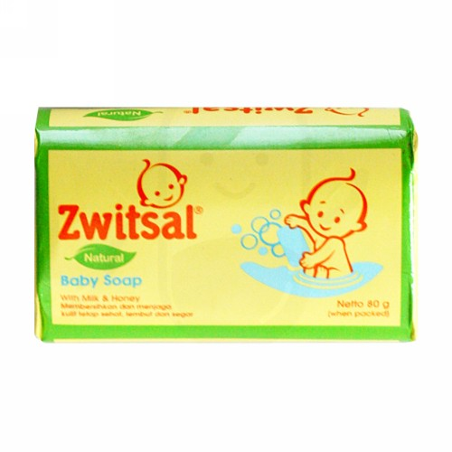 ZWITSAL BABY SOAP NATURAL WITH MILK AND HONEY 80 GRAM DUS